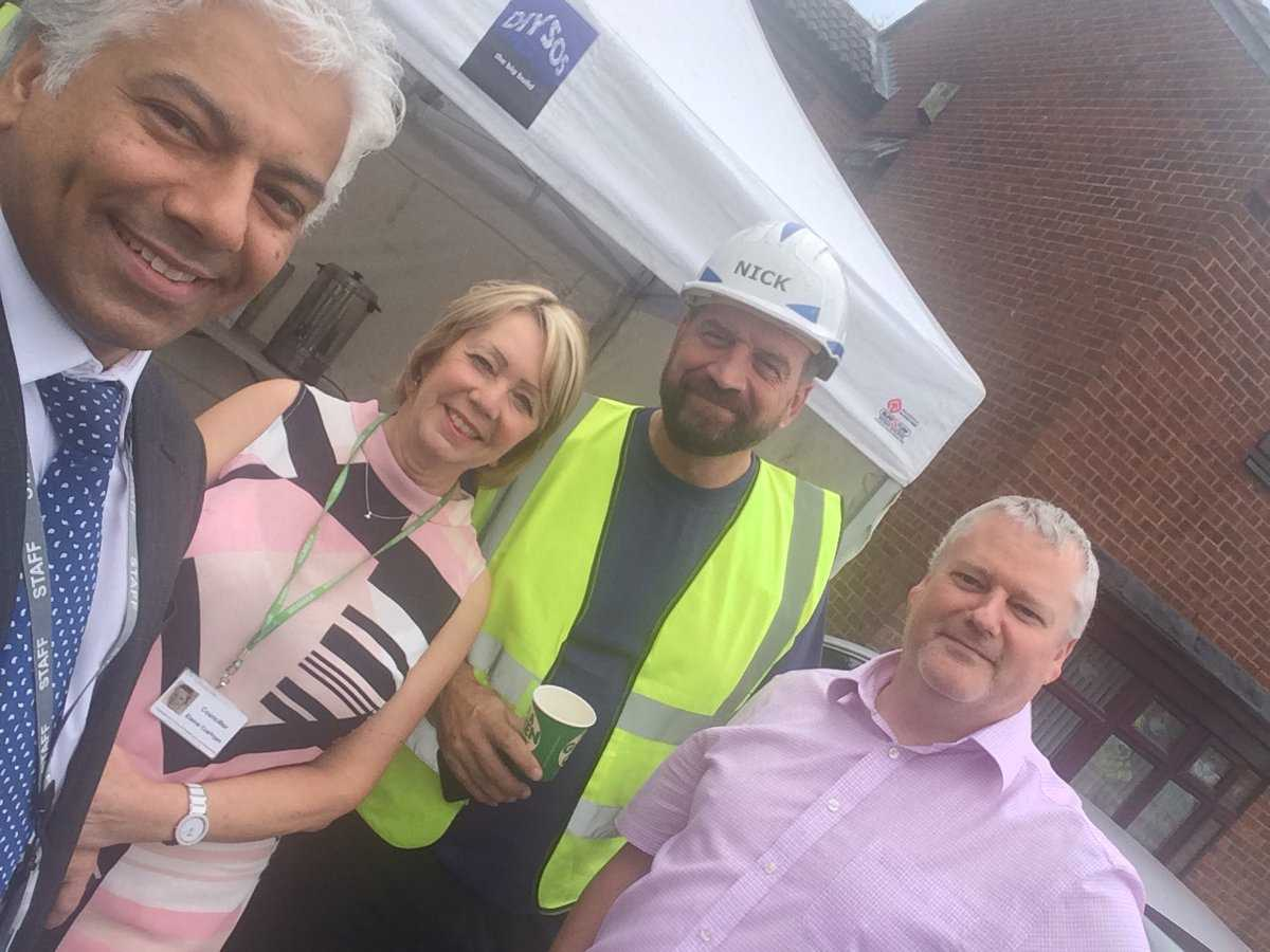 Helping the BBC`s DIYSOS team in West Bromwich